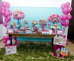 Decoração de festa infantil tema Jardim  - Birthday Party https://www.facebook.com/pages/Priscilla-Campos-Designer-de-Eventos/1507514746135286