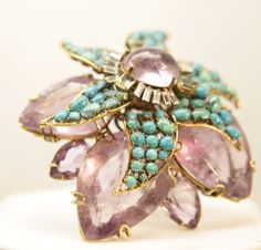 iradj moini jewelry | Iradj Moini Ping - Amethyst turquoise and citrine stones. Signed.