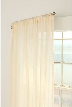 Swinging Curtain Rod - I like this for hiding a closet with no door