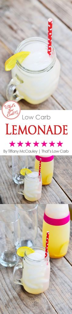 Learn how to make easy, low carb lemonade in under 5 minutes! From SkinnyCarb.com. ~ http://www.thatslowcarb.com