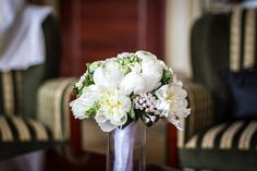 bouquet wedding white peony