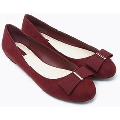 Forever 21 Women's  Bow-Topped Faux Suede Flats
