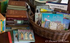 Shower of Roses: Baskets of Books for Easter {and a Giveaway!}