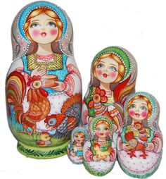 """Matriochka """"Paques""""More Pins Like This At FOSTERGINGER @ Pinterest"""