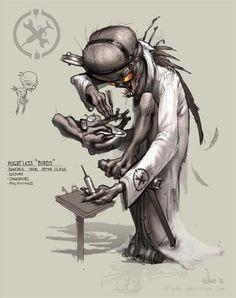 Silvio Aebischer - Oddworld Sketch