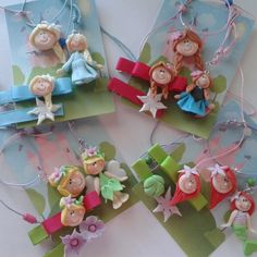 Bisuteria infantil Fimo Clay, Polymer Clay Projects, Polymer Clay Jewelry, Clay Crafts, Disney Word, Clay People, Polymer Clay Christmas, Cute Clay, Pasta Flexible