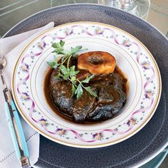 Chef Michael Mina loves beef shanks because the marrow in the bones creates the most delicious braising juices.