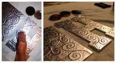 """tin foil with glue projects   ... project. This will take away the """"tin-foil-y"""" look. Let it dry"""