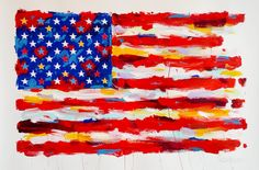 John Stango •Paper Flag •35 X 44 •Acrylic on Paper // 408.888.1500 //jcos.hello@gmail for acquisition info