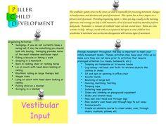 List of vestibular activities for home