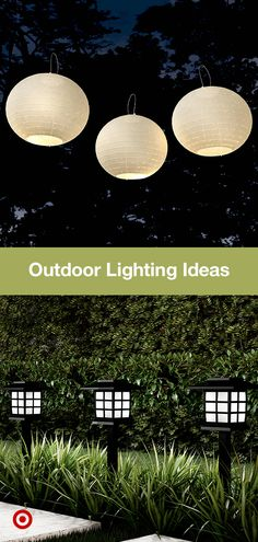 Turn up your outdoor ambiance with solar light ideas. Find lanterns & string path & patio lights in all styles. Turn up your outdoor ambiance with solar light ideas. Find lanterns & string path & patio lights in all styles. Outdoor Landscaping, Front Yard Landscaping, Backyard Patio, Garden Design Ideas Uk, Garden Ideas, Dibujos Dark, Whatsapp Wallpaper, Backyard Lighting, Deck Lighting