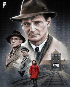 Watch Streaming Schindler's List : Movies The True Story Of How Businessman Oskar Schindler Saved Over A Thousand Jewish Lives From The Nazis. Beau Film, Movie Poster Art, Film Posters, Schindlers Liste Film, Schindler's List Movie, Cinema, Ralph Fiennes, Liam Neeson, Posters
