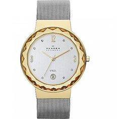 Skagen Mesh Collection SKW2002 Women's Analog Watch with Crystal Accents