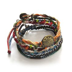 A story about the creation of Earth is captured in this beautifully symbolic beaded bracelet.