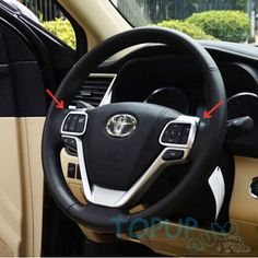 Cool Awesome Fit For 2014- 2017 Toyota Highlander Chrome Steering Wheel Cover Garnish Molding 2017 2018 Check more at http://24auto.tk/toyota/awesome-fit-for-2014-2017-toyota-highlander-chrome-steering-wheel-cover-garnish-molding-2017-2018/