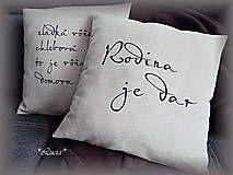 Úžitkový textil - Rodina je dar - 6328336_