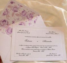 Convite casamento com forro estampado | dettagli@dettagliartes.com.br