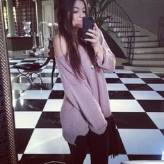 Kylie Jenner Big Sweater Look 2012
