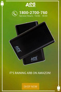 It's raining ARB on Amazon!  #PowerBank #ARBPowerBank #OnlinePowerBank  Buy Here: - http://arbpowerbank.com/