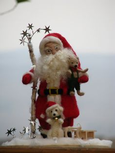 Weihnachten Nadel Filz Santa Claus Home von Made4uByMagic auf Etsy