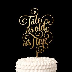 Wedding Cake Topper - Tale As Old as Time - Disney Wedding - Pixie Collection