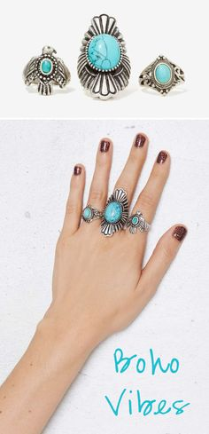 Boho Vibes! These rings are awesome!