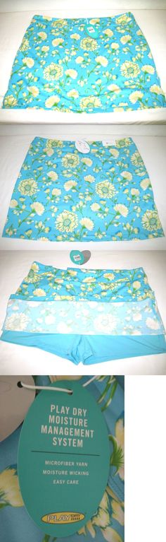 Skirts Skorts and Dresses 179003: Greg Norman Women S Floral Print Knit Golf Skort, Size Xxl Blue, New With Tags -> BUY IT NOW ONLY: $39.99 on eBay!
