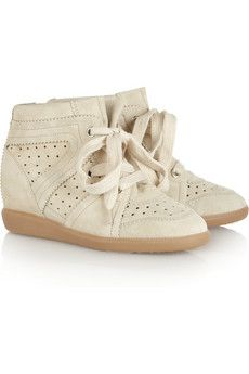 Love the Isabel Marant 'Bobby' off-white suede sneakers $370, get it here: http://rstyle.me/~lgOD