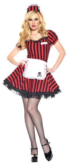 1950u0027s Car Hop Night Shift Sexy Costume  sc 1 st  Pinterest & Boxer Girl Bartender Waitress Halloween Costume #Halloween #sexy ...