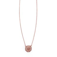 Avinas Jewelry Collection 2013 - Delicate flower necklace rose gold plated - Modern and original necklace