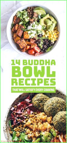 14 Buddha Bowl Recipes That Will Satisfy Every Craving. These easy recipes will help you eat healthy and save on meal prep. Ideas include vegan and vegetarian options with different sauce and dressing choices. Whole Food Recipes, Vegetarian Recipes, Cooking Recipes, Healthy Recipes, Detox Recipes, Dinner Recipes, Easy Recipes, Dinner Ideas, Appetizer Recipes