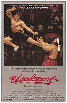Bloodsport is a 1988 American martial arts sports drama film directed by Newt Arnold, starring Jean-Claude Van Damme, Roy Chiao, Donald Gibb and Leah Ayres. The film is based on the largely fictional life of Frank Dux. Love Movie, Movie Tv, 80s Movies, Movies Showing, Movies And Tv Shows, Series Movies, Bloodsport Movie, Monsieur Cinema, Claude Van Damme