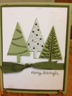 Festival of Trees Stamp Set; Christmas Cards; Tree Punch; Stampin' Up!; www.jansstampingcreations.com