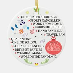 Christmas Quarantine, 2020 a Year to Remember Ceramic Ornament - tap to personalize and get yours #CeramicOrnament #covid, #social #distancing, #toilet #paper, Retro Christmas, Diy Christmas Ornaments, Best Christmas Gifts, Christmas Humor, Christmas Ideas, Xmas, Homemade Ornaments, Christmas Projects, Christmas Stuff