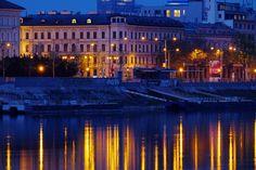 Lights in river by Karol Srnec on 500px