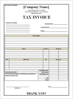 tax invoice for goods or services that all include gst projects