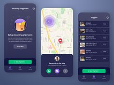Shipment Tracking App by Isaac Sanchez (fresco studio) You are in the right place about event App Design Here we offer you the most beautiful pictures about the App Design green you are looking for. Neon Design, Ui Design, Layout Design, Delivery Service App, Track Shipment, App Design Inspiration, Design Ideas, Event App, Android Design