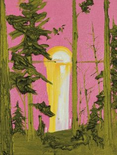 Lot #63 'Untitled (Pink and Green Sunset)' by Kim Dorland at Consignor.ca