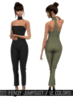 Sims 4 CC's - The Best: Fendi Jumpsuit in 12 Colors by Simpliciaty