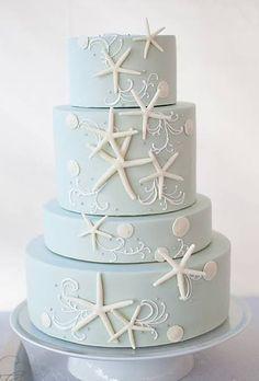 Beach-Themed Wedding Cakes : Brides.com