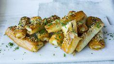 Filoruller med spinat og feta