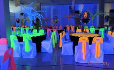 Quinceanera Party Planning – 5 Secrets For Having The Best Mexican Birthday Party Glow In Dark Party, Glow Party, Black Light Party Ideas, Neon Birthday, 15th Birthday, Neon Sweet 16, Neon Licht, Blacklight Party, Sweet Sixteen Parties