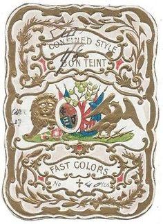 Victorian-Era-Gilt-Die-Cut-Embossed-Fabric-Label-Textile-Linen-Bon-Tient
