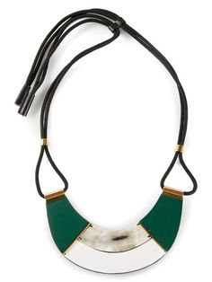 Shop Marni contrasting panel necklace in Gigi Tropea from the world's best independent boutiques at farfetch.com. Over 1000 designers from 300 boutiques in one website.