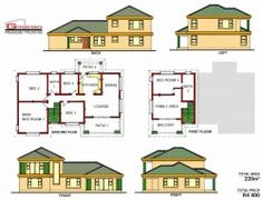 Samples of our House Plans 5 Bedroom House Plans, Free House Plans, Family House Plans, Country House Plans, Small House Design, Cool House Designs, Modern Bungalow House Plans, Single Storey House Plans, House Plans South Africa