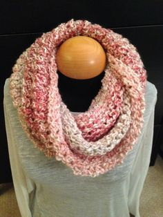 Handmade knit infinity winter scarf - Parfait.  By: Scarves by Chelsey   #knit #infinity #scarf #handmade #scarves #winter #warm #fashion www.facebook.com/scarvesbychelsey Check us out on Etsy!