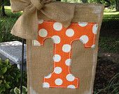 Tennessee Vols Burlap Garden Flag...only would HAVE to change the team.