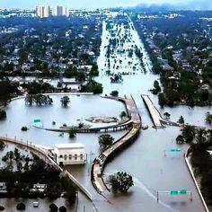 Aerial views of flooding in Houston. Khou.com