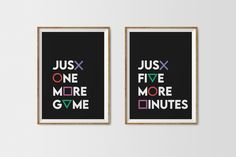 Just Five More Minutes and Just One More Game Print, PlayStation Controller Buttons, Playstation Art, Video Game Boy Room Poster Face Line Drawing, Alphabet Print, Playstation, Ps4, Room Posters, More Games, Types Of Printer, International Paper Sizes, Bathroom Art
