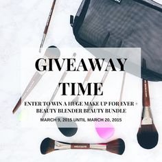 The Beauty Council Giveaway - enter to win Make Up For Ever brushes and a Beauty Blender prize pack worth over $475.